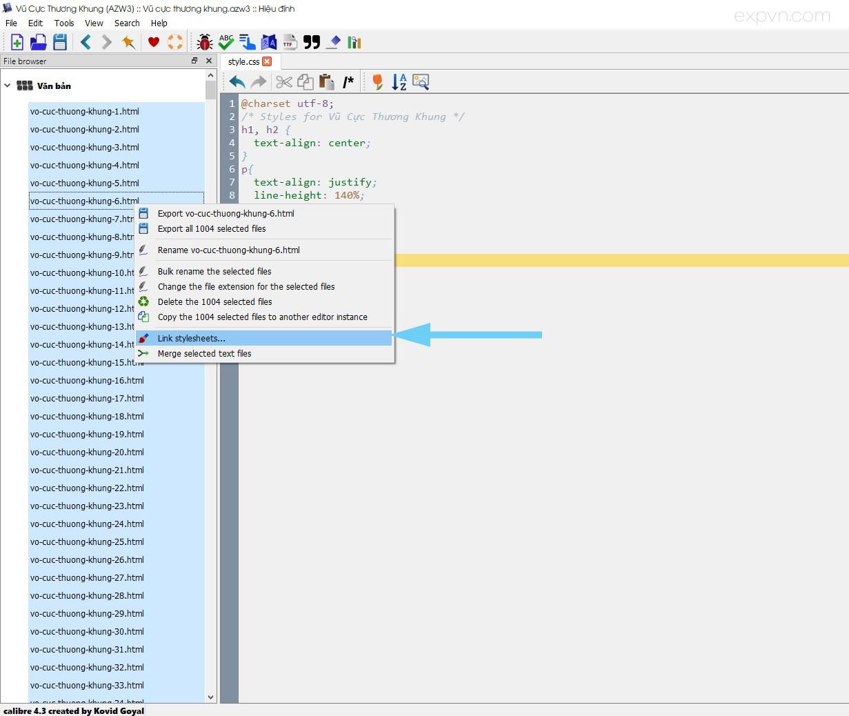 Liên kết các file html vào css đã tạo