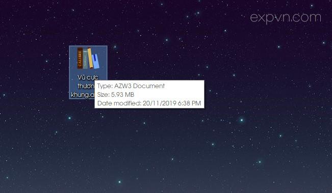 Tạo ebook dạng azw3 epub thành công