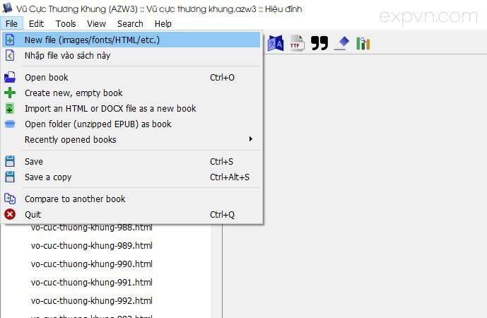 tạo file css để bố cục cho ebook azw3 epub